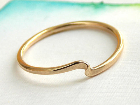 Twister Stacking Ring - 14K Gold-filled and Sterling Silver - Rito Originals - 1
