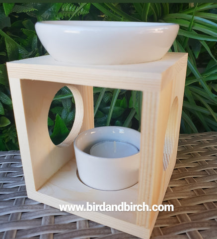 Wooden oil burner