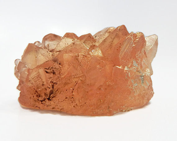 Apricot Quartz Crystal Shaped Soap - Honey Scent