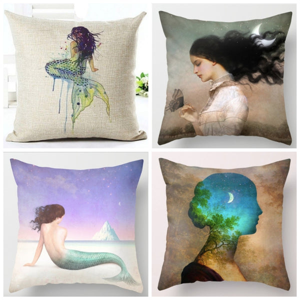 Linen/Cotton Blend Throw Pillow Covers