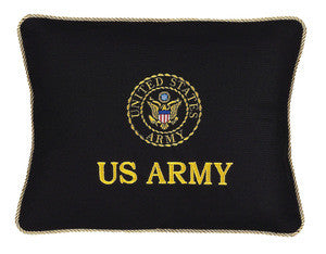 US Army Pillow Embroidered Logo