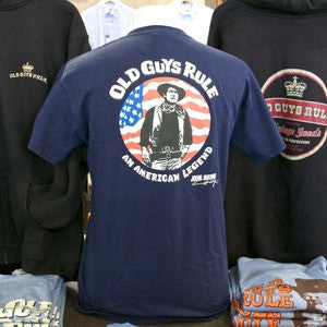 Old Guys Rule John Wayne American Legend T-shirt