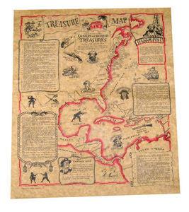 Poster treasure map in tube