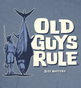 Old Guys Rule Size Matters Fishing T-shirt