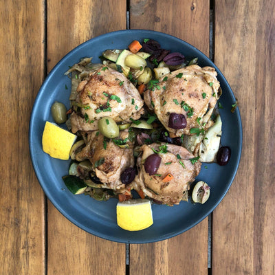 FODMAP Friendly Moroccan Lemon Chicken