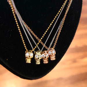Diamond Skull Necklace by Alexis Kletjian Jewelry