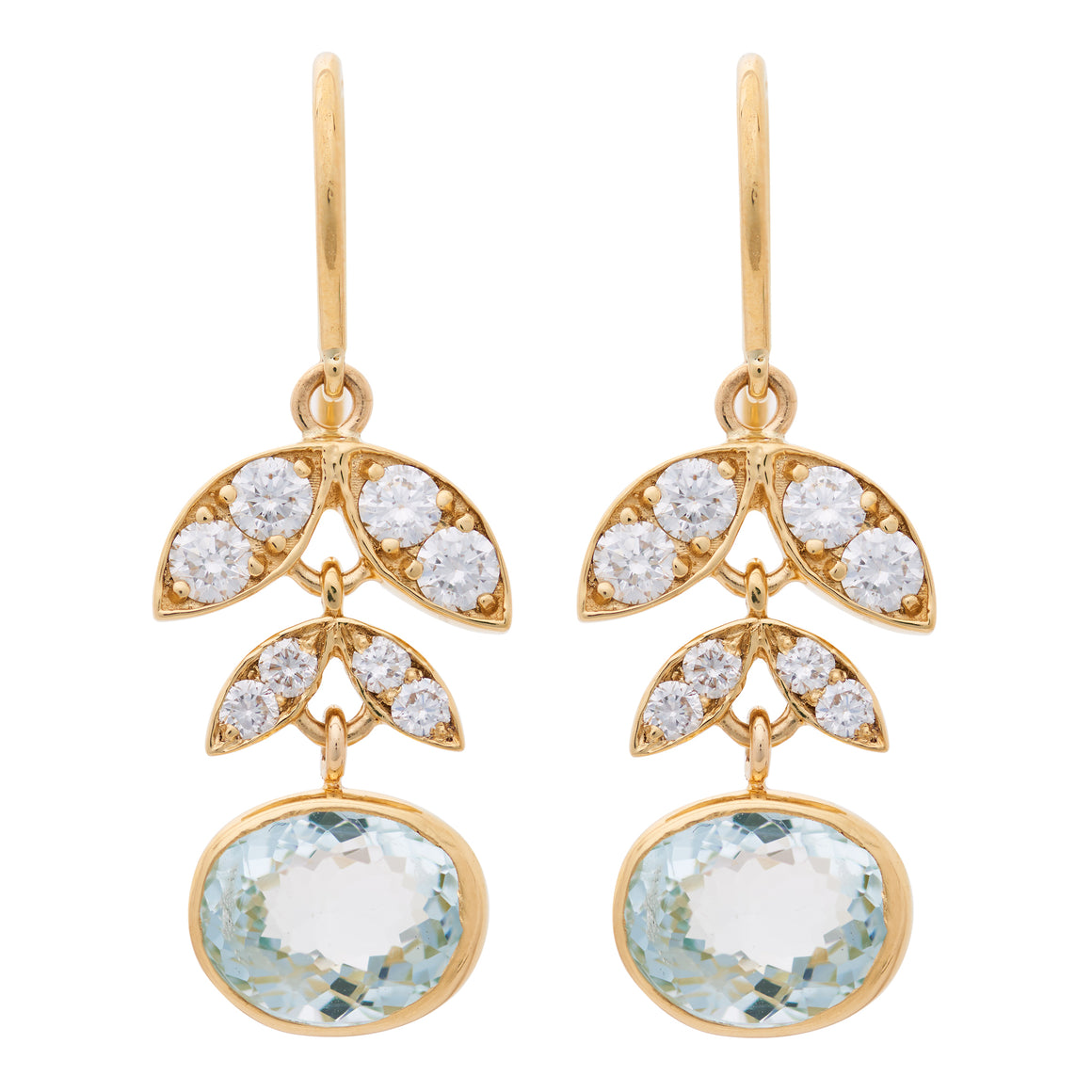AQUAMARINE LOTUS EARRINGS