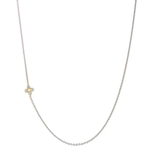 FOUR LEAF DIAMOND CLOVER NECKLACE