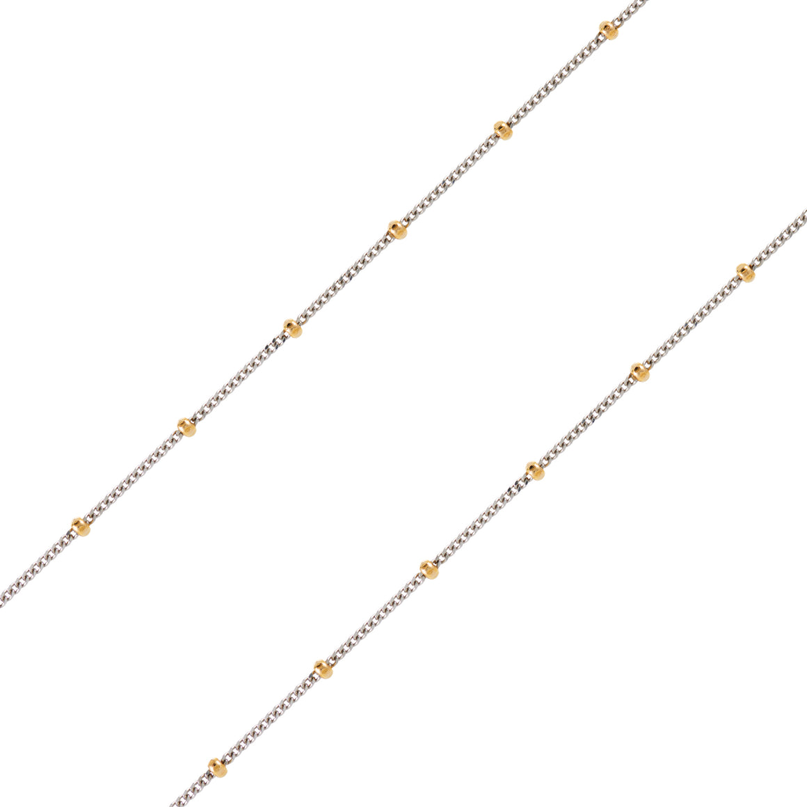 14K MIXED METAL BALL CHAIN