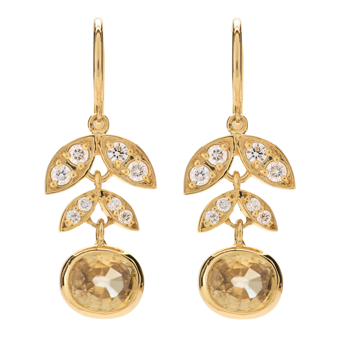 18K GOLDEN LOTUS EARRINGS