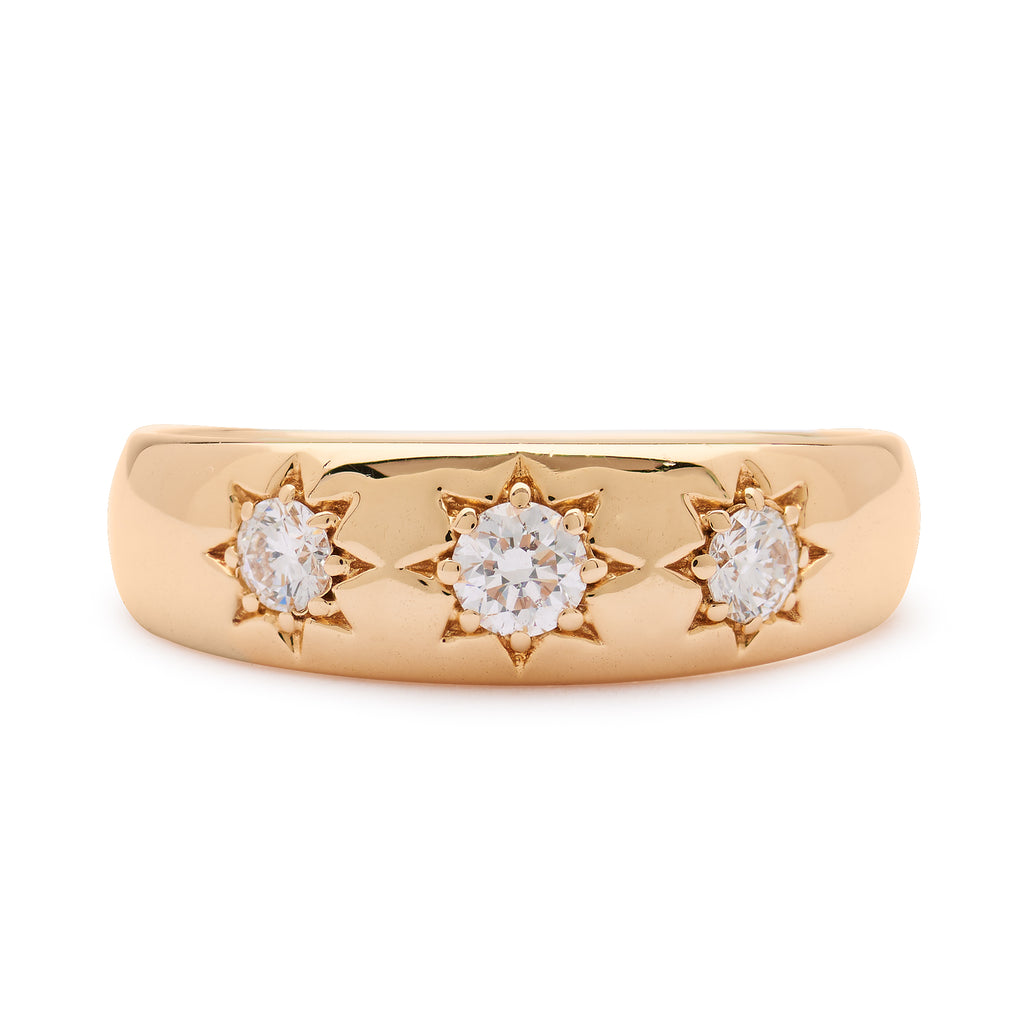 Lucky Star Ring - Yellow Gold