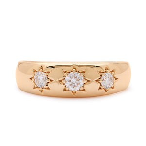 LUCKY STAR YELLOW GOLD RING