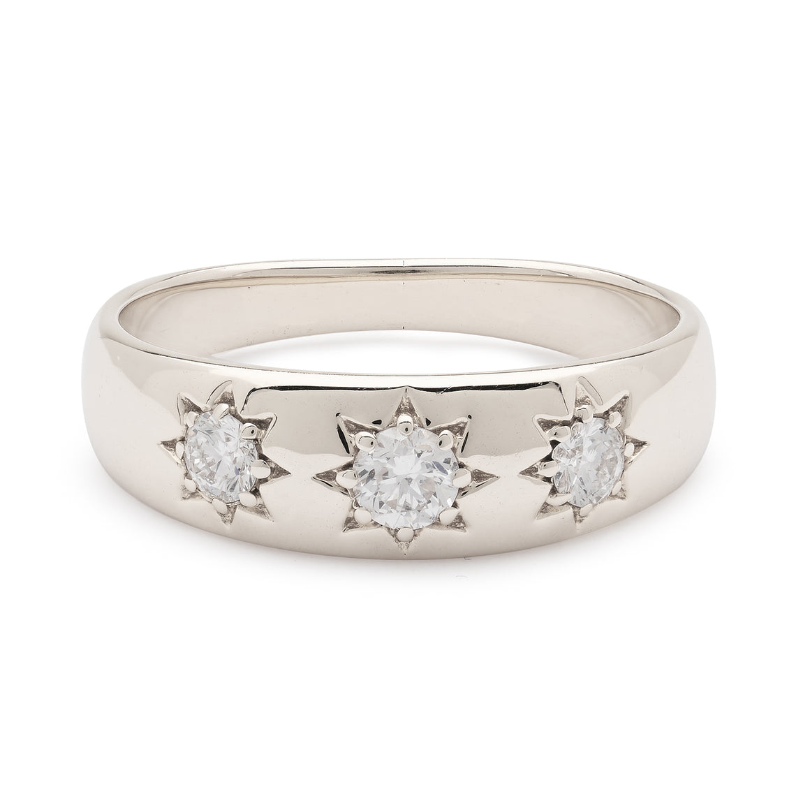 LUCKY STAR WHITE GOLD RING