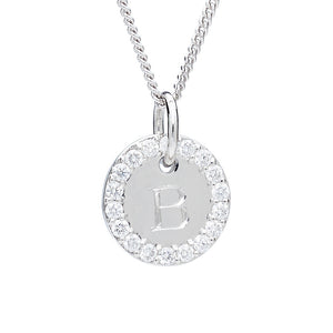DIAMOND PLATINUM INITIAL CHARM