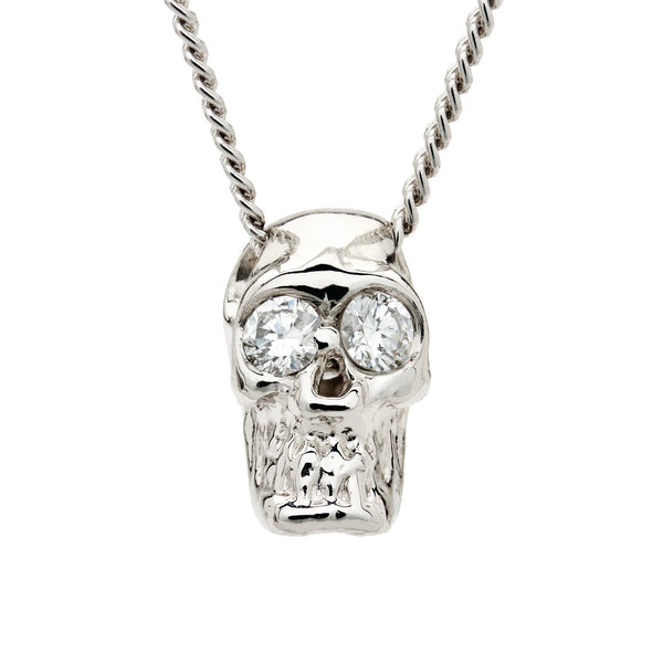SKULL SLIDE - WHITE GOLD