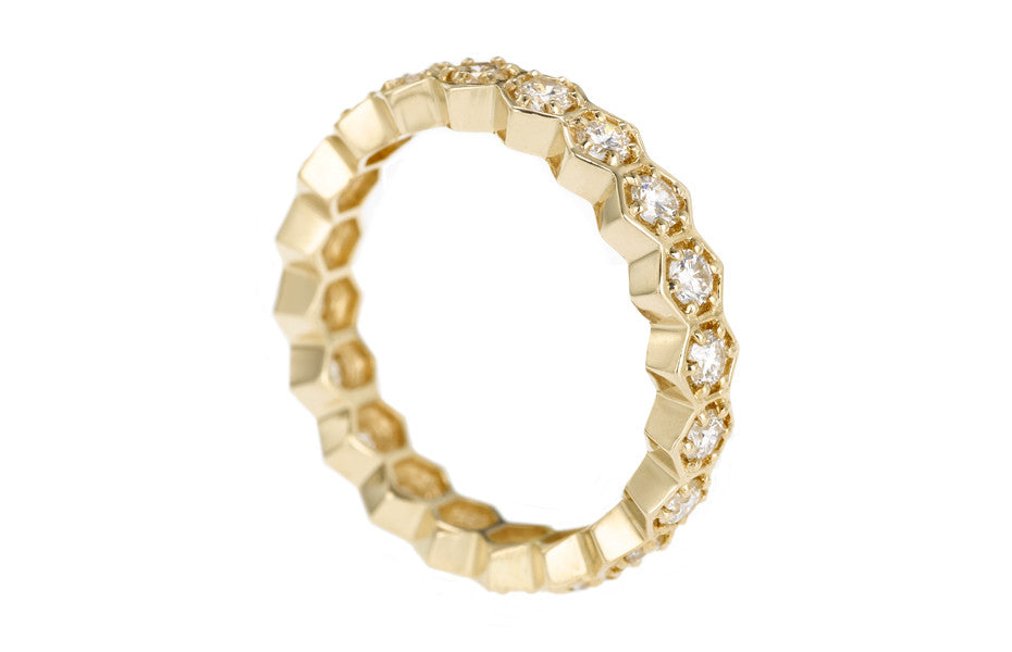 HEXAGON ETERNITY RING