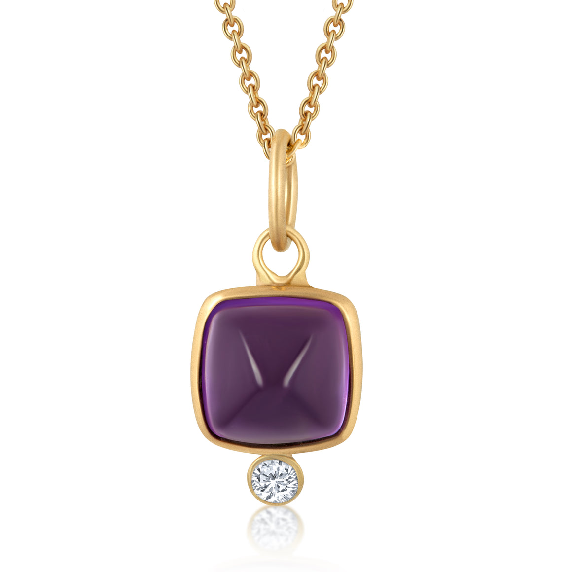 AMETHYST DIAMOND GEMSTONE CHARM