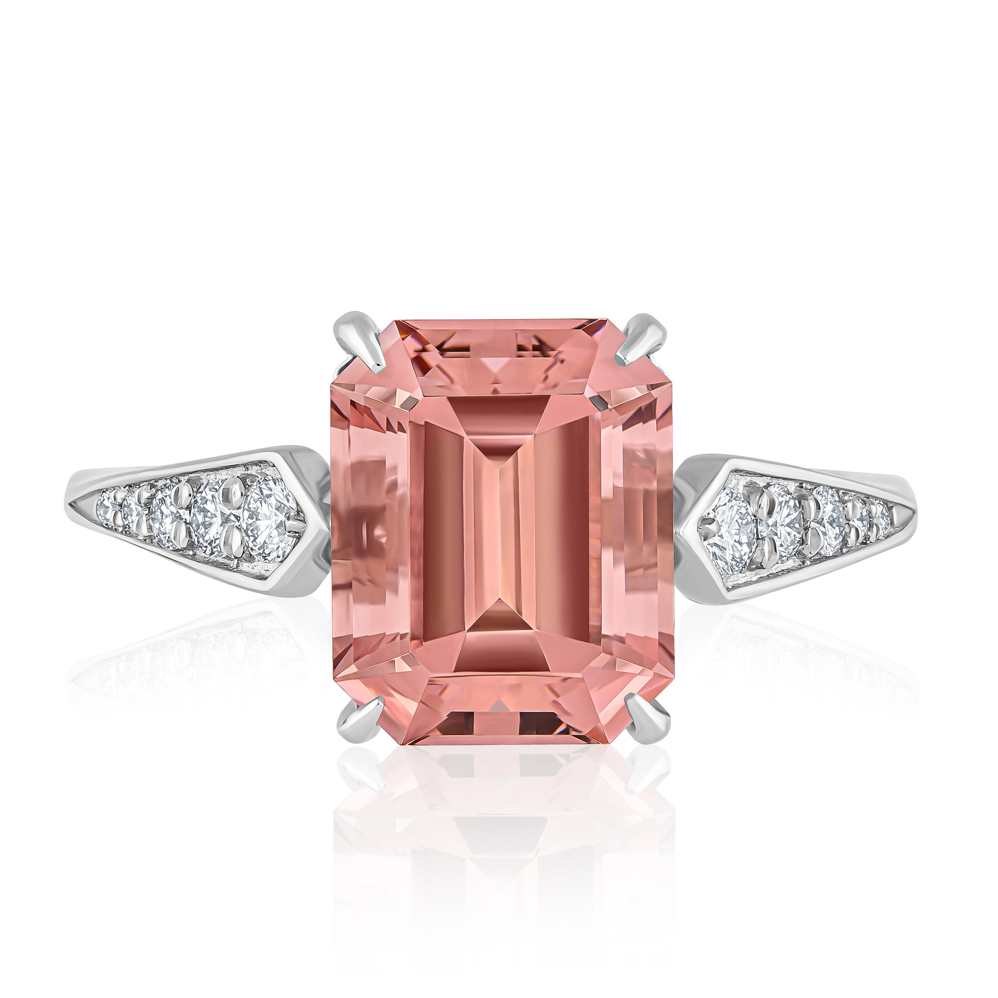 MORGANITE PLATINUM RING