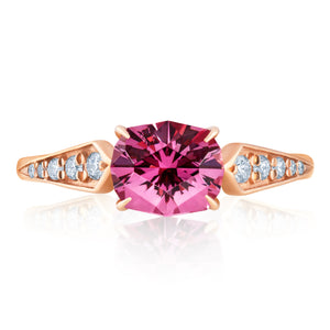 ROSE GOLD GARNET RING 1.75cttw