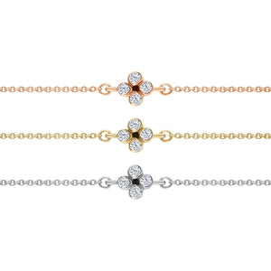 FOUR-LEAF DIAMOND CLOVER CHAIN