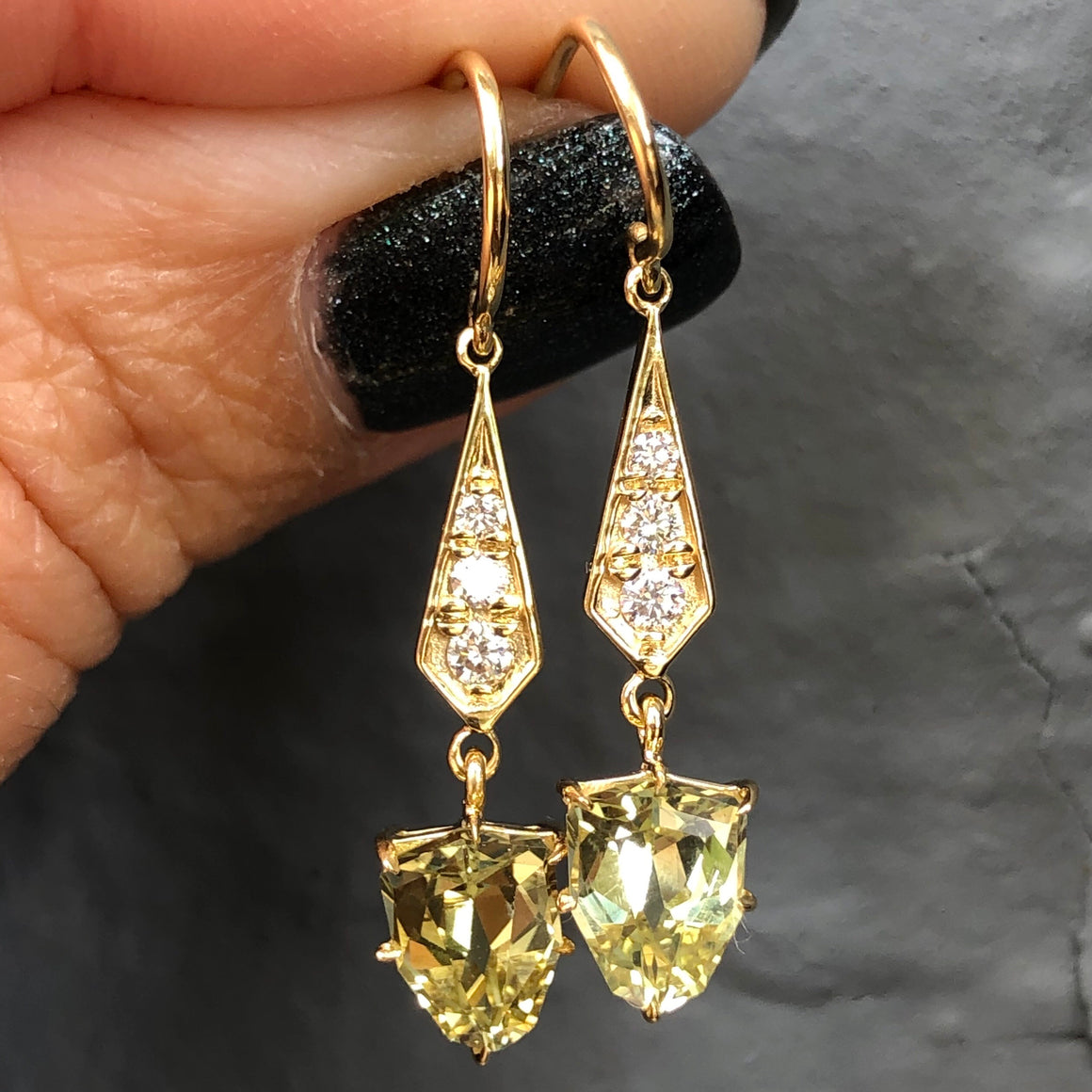CHRYSOBERYL DIAMOND EARRINGS