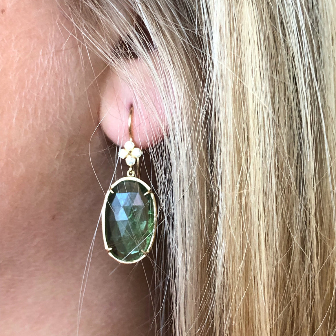 CLOVER TOURMALINE EARRINGS
