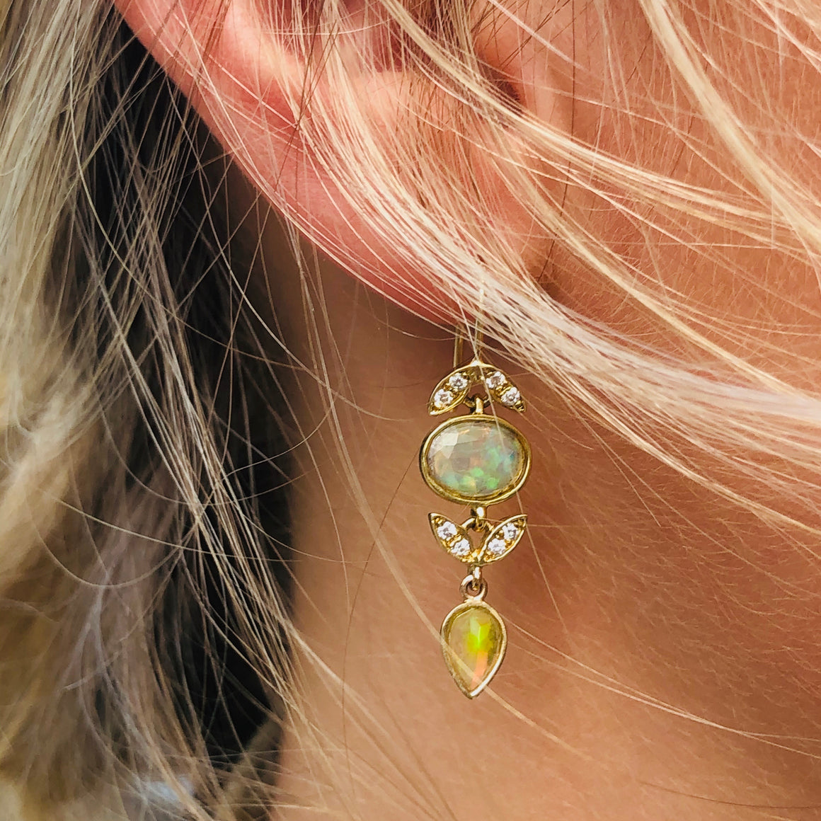 OPAL LOTUS EARRINGS