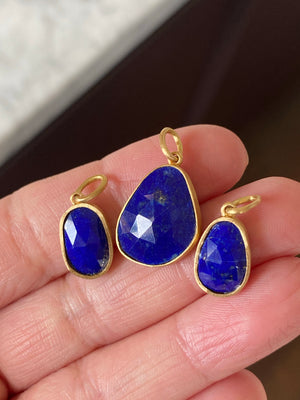 LAPIS GOLD CHARMS