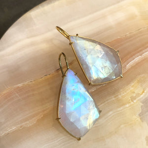 MOONSTONE ROSE CUT EARRINGS