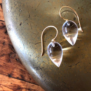 QUARTZ LOTUS EARRINGS