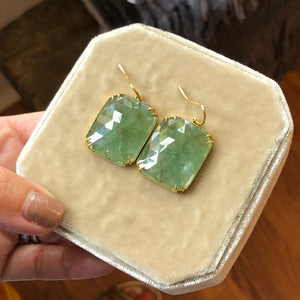 EMERALD EARRINGS - 38.60cttw