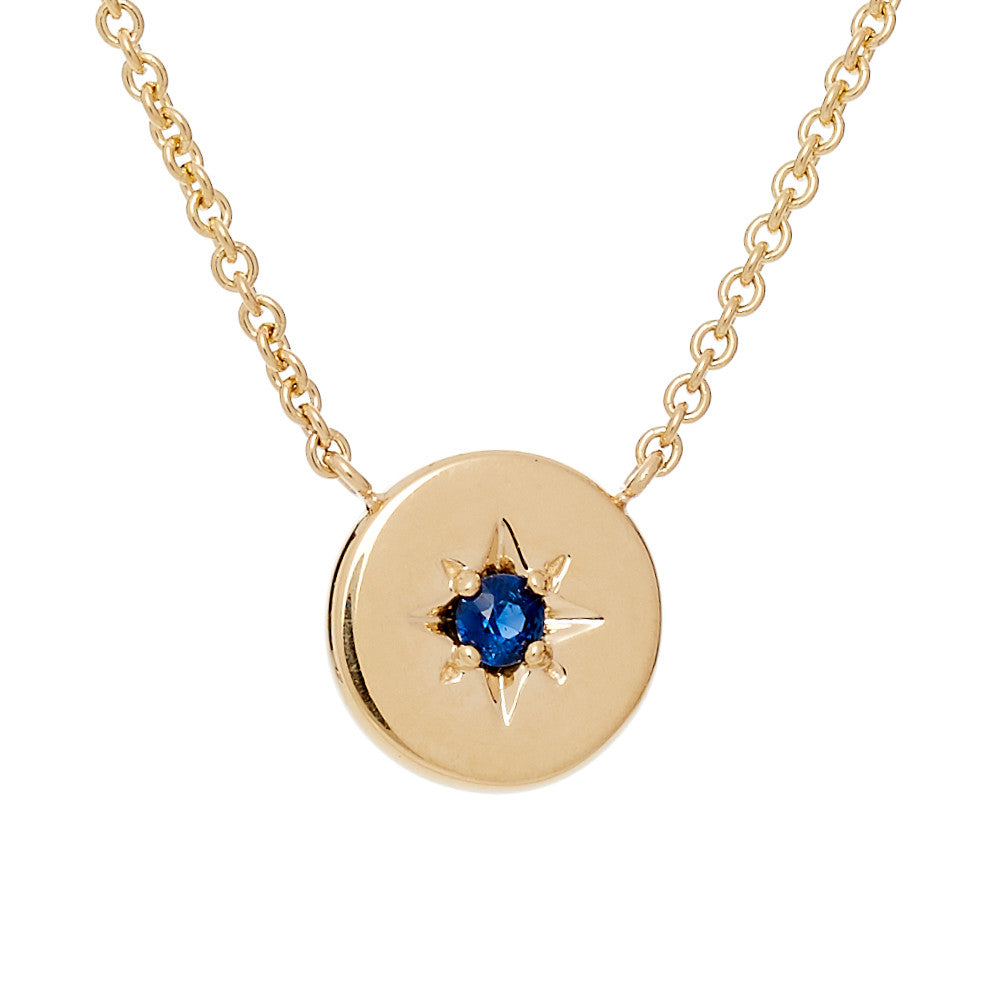 SAPPHIRE LUCKY STAR NECKLACE