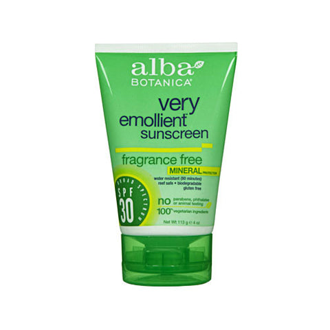 Very Emollient Mineral Sunscreen Fragrance Free SPF 30