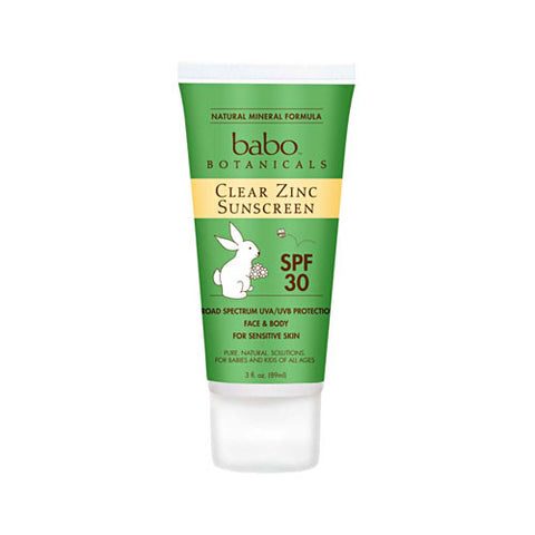 Clear Zinc Sunscreen SPF 30