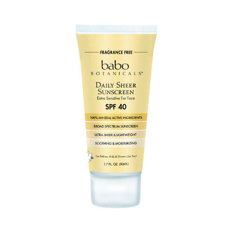 Daily Sheer Facial Sunscreen SPF 40