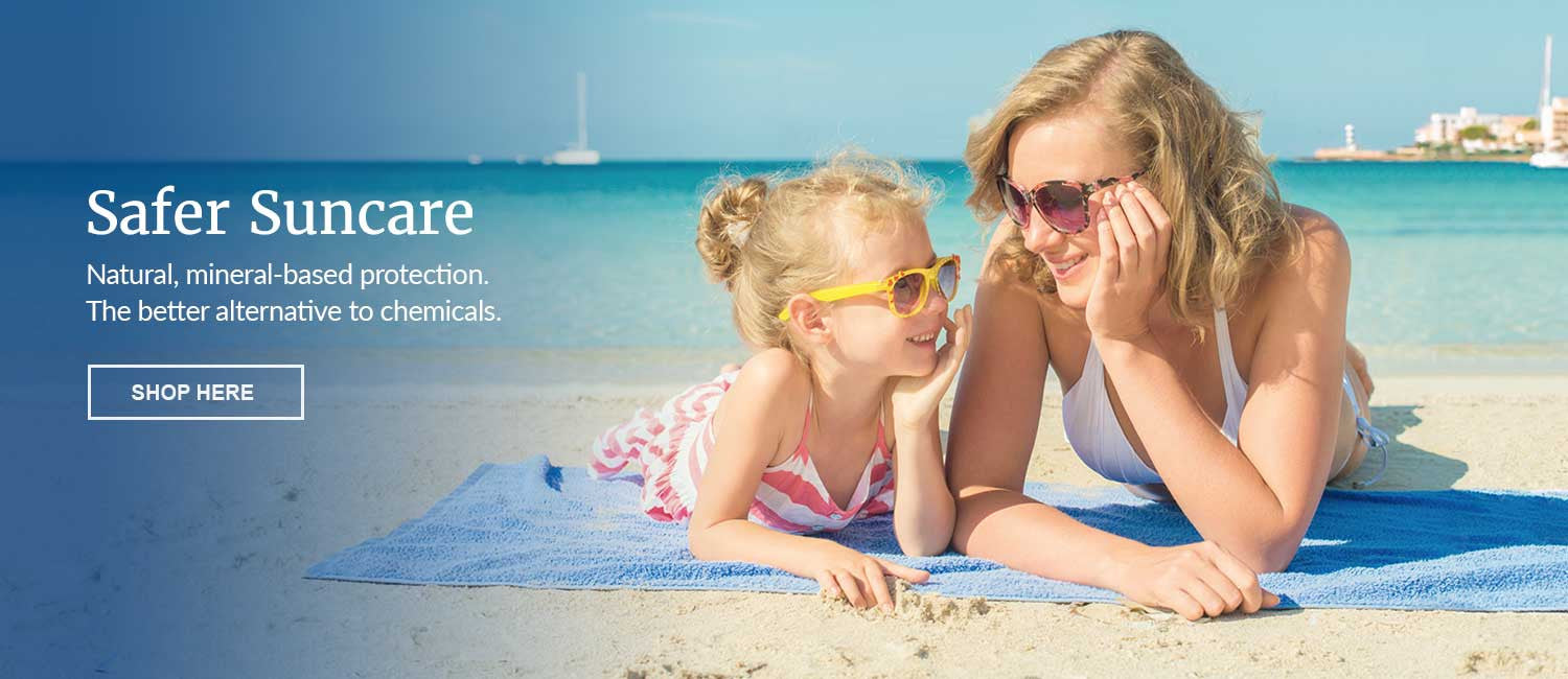 Safer, chemical free sunscreens - shop now