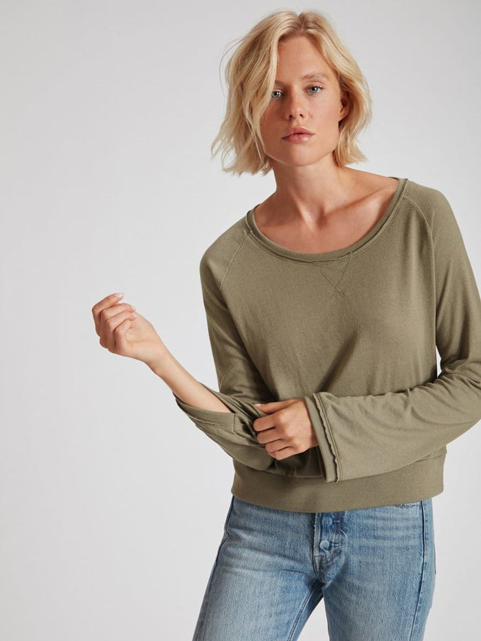 Nation LTD Marta Bell Sleeve in Faded Army