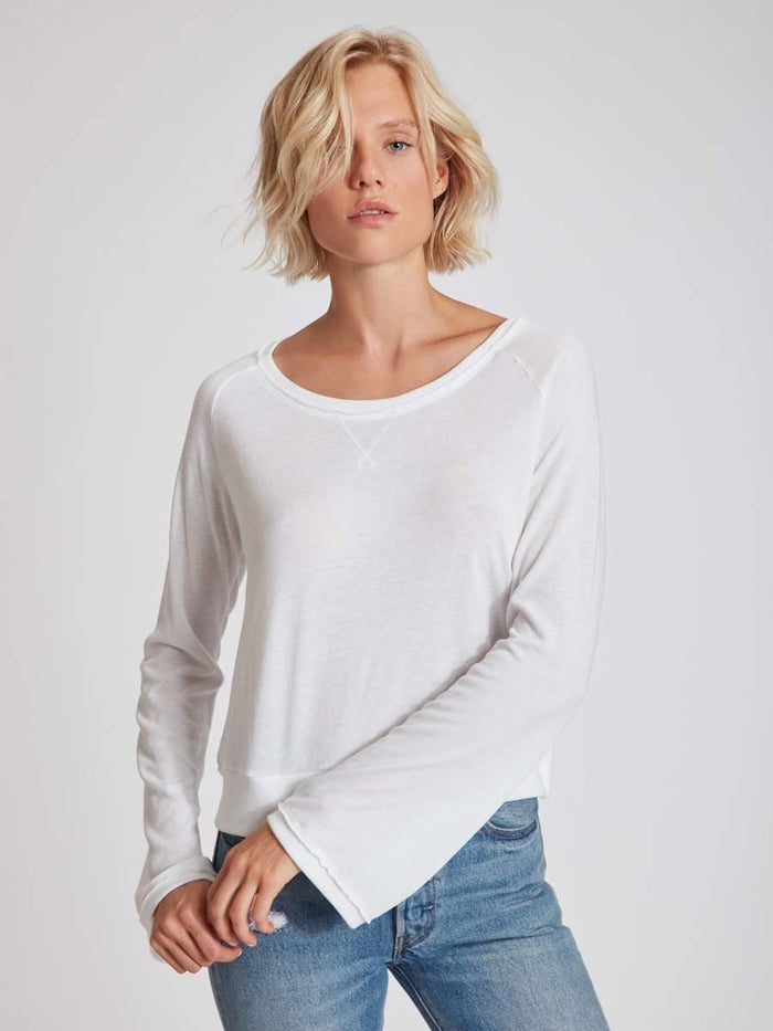 Nation LTD Marta Bell Sleeve in White