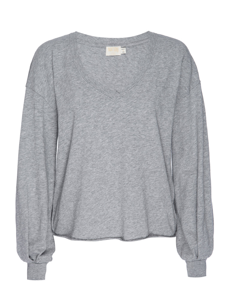 Nation LTD Willa Long Sleeve in Heather Grey