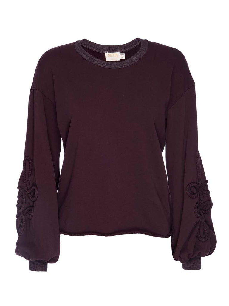 Nation LTD Adaline Sweatshirt in Aubergine