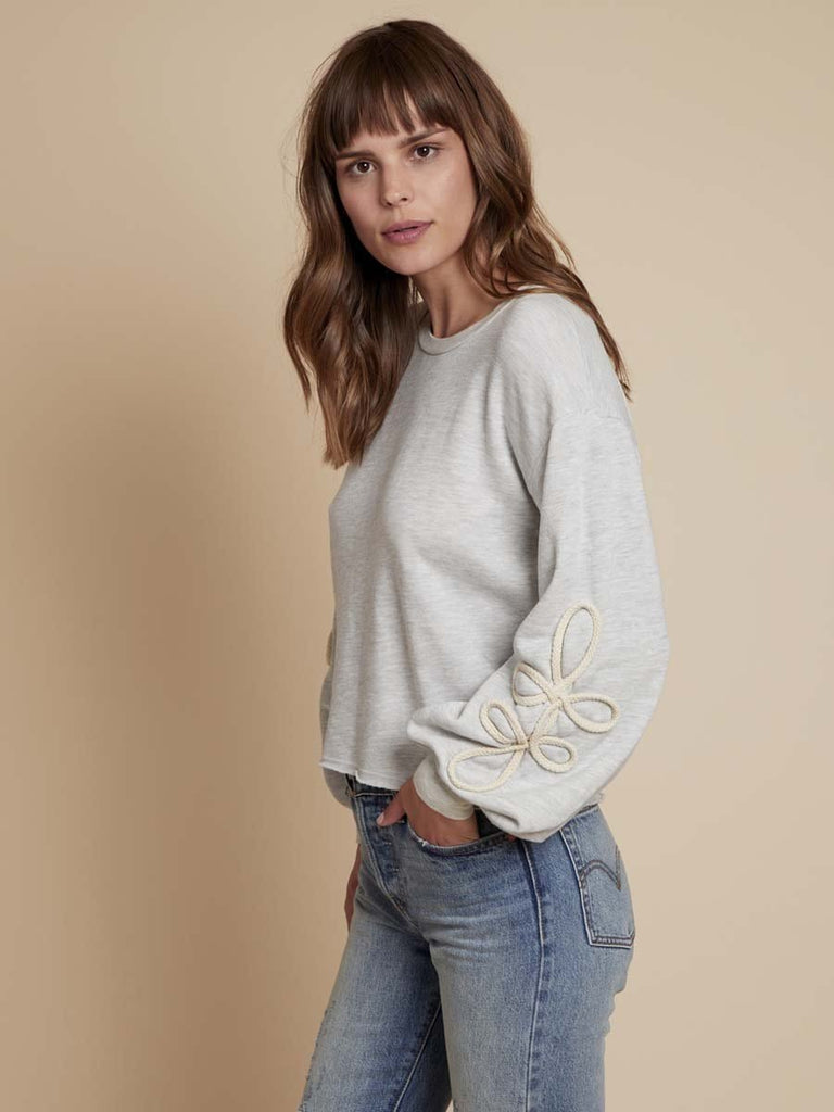 Adaline Sweatshirt in Light Heather Grey
