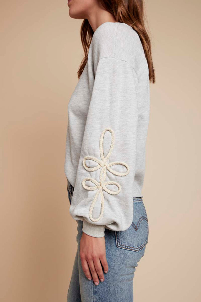 Adeline Sweatshirt in Light Heather Grey