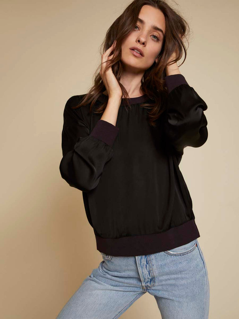 Nation LTD Shay Sweatshirt in Black