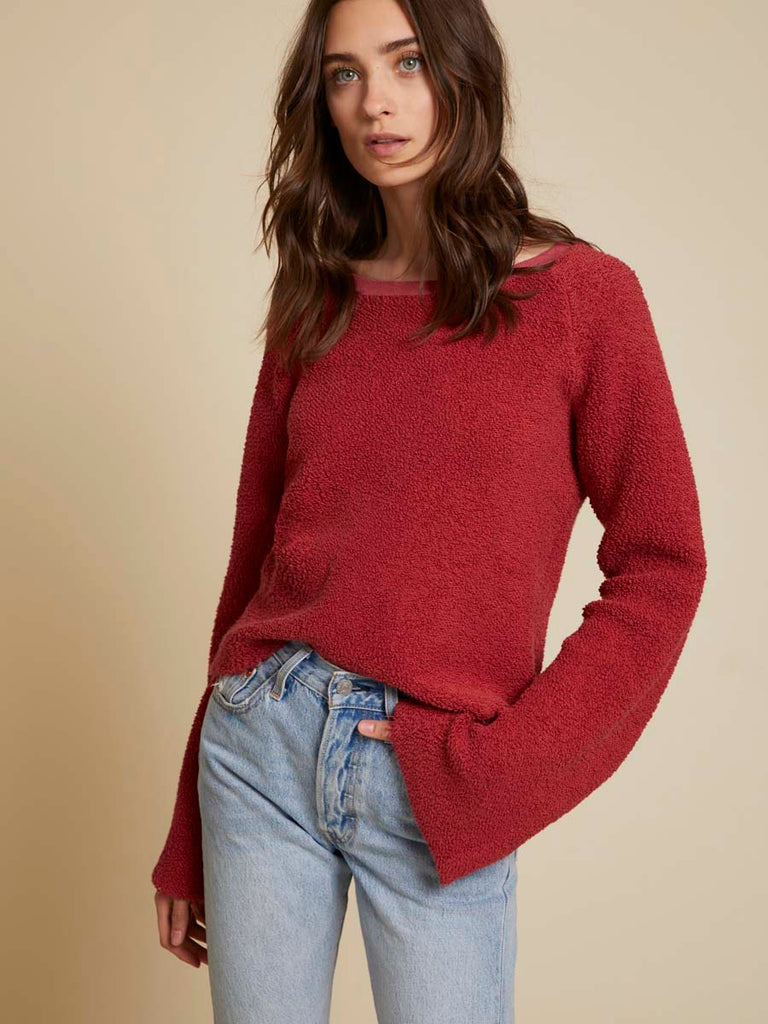 Nation LTD Peri Sweatshirt in Framboise