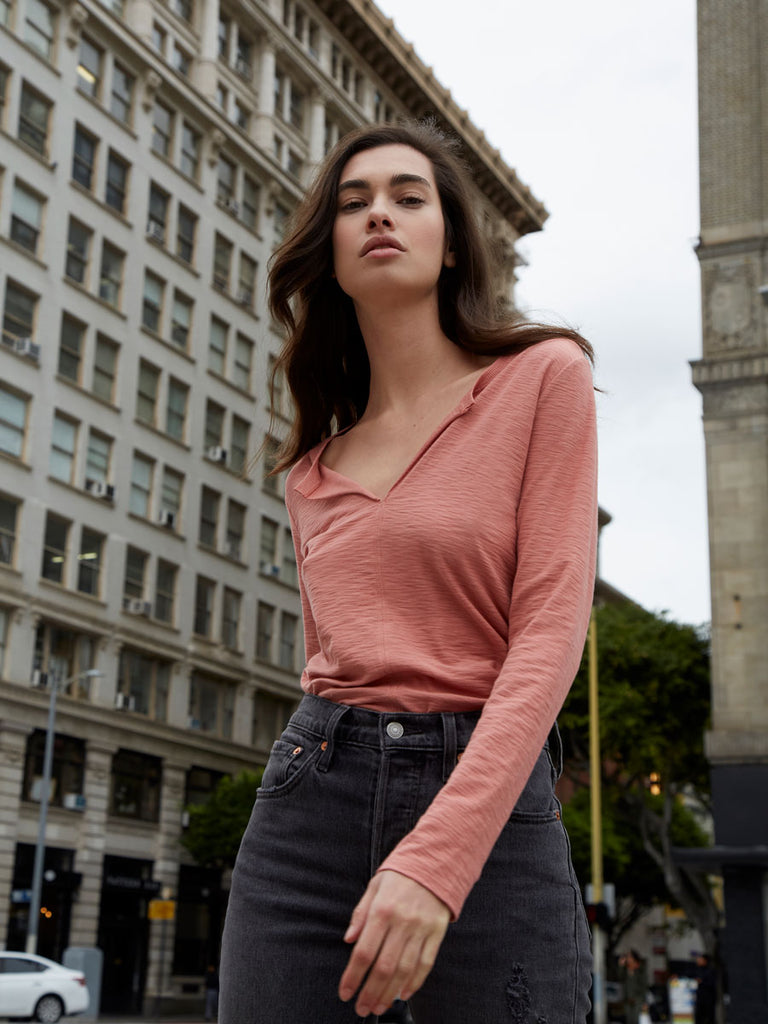 Lindsey Long Sleeve in Dusty Clay