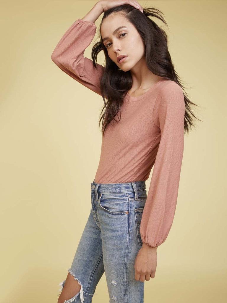 Nation LTD Becca Long Sleeve in Dusty Clay