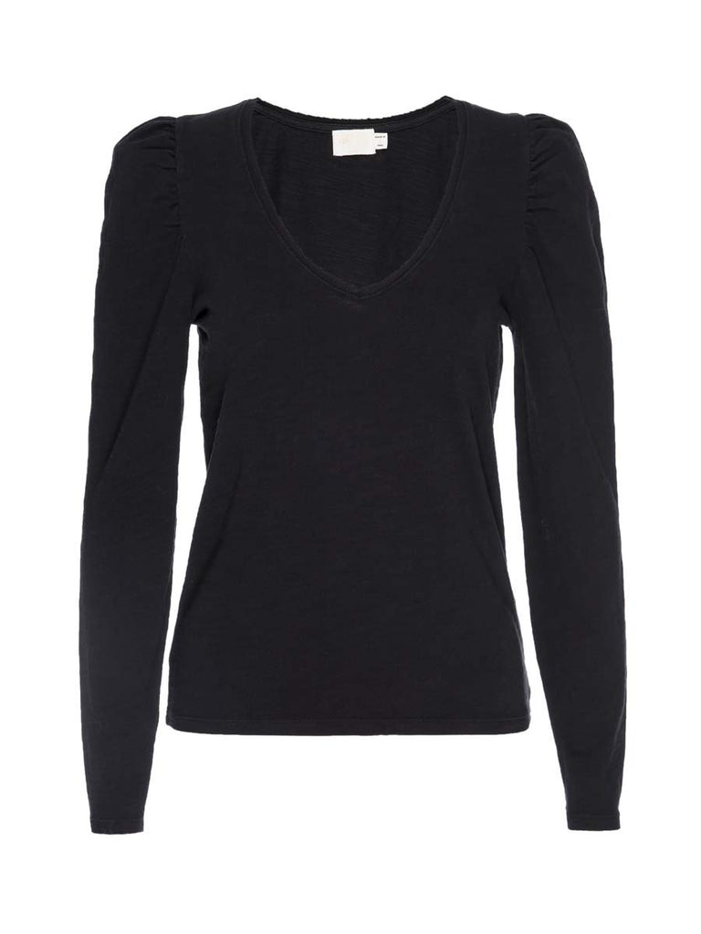 Nation LTD Elizabeth Long Sleeve in Jet Black