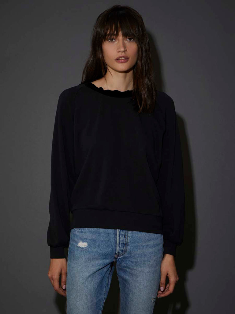 Nation LTD Alice Sweatshirt in Black