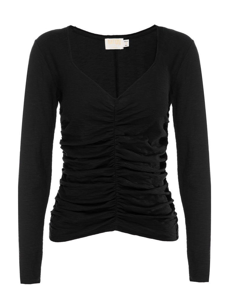 Nation LTD Alejandra Long Sleeve in Jet Black