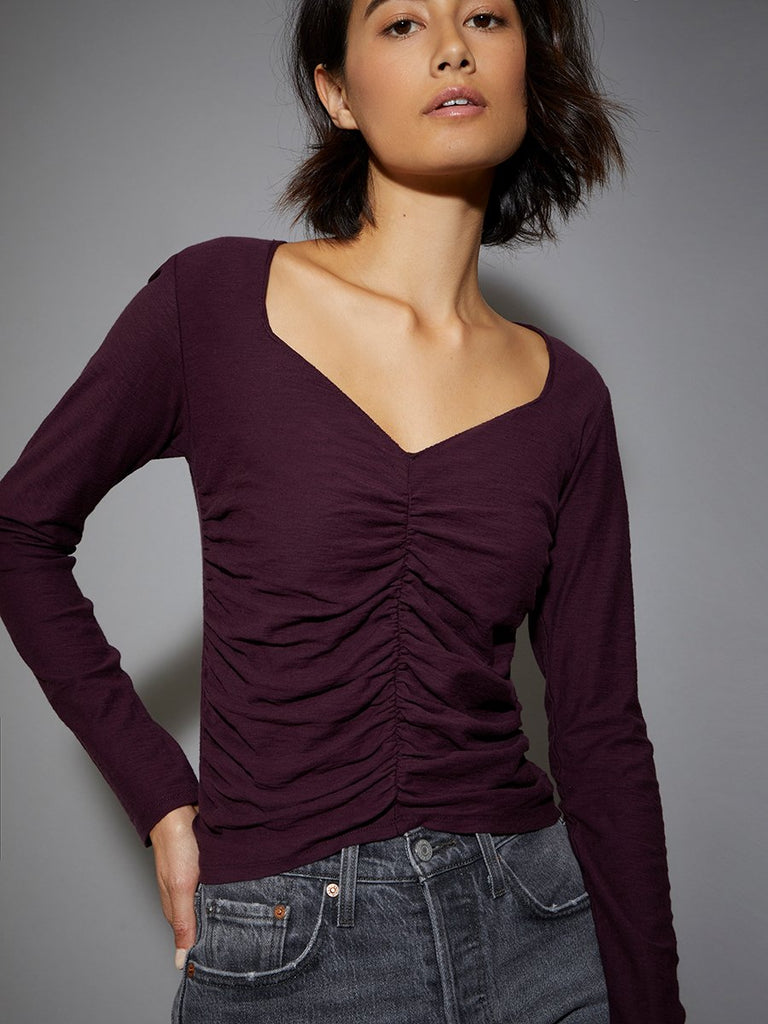 Nation LTD Alejandra Long Sleeve in Mulberry